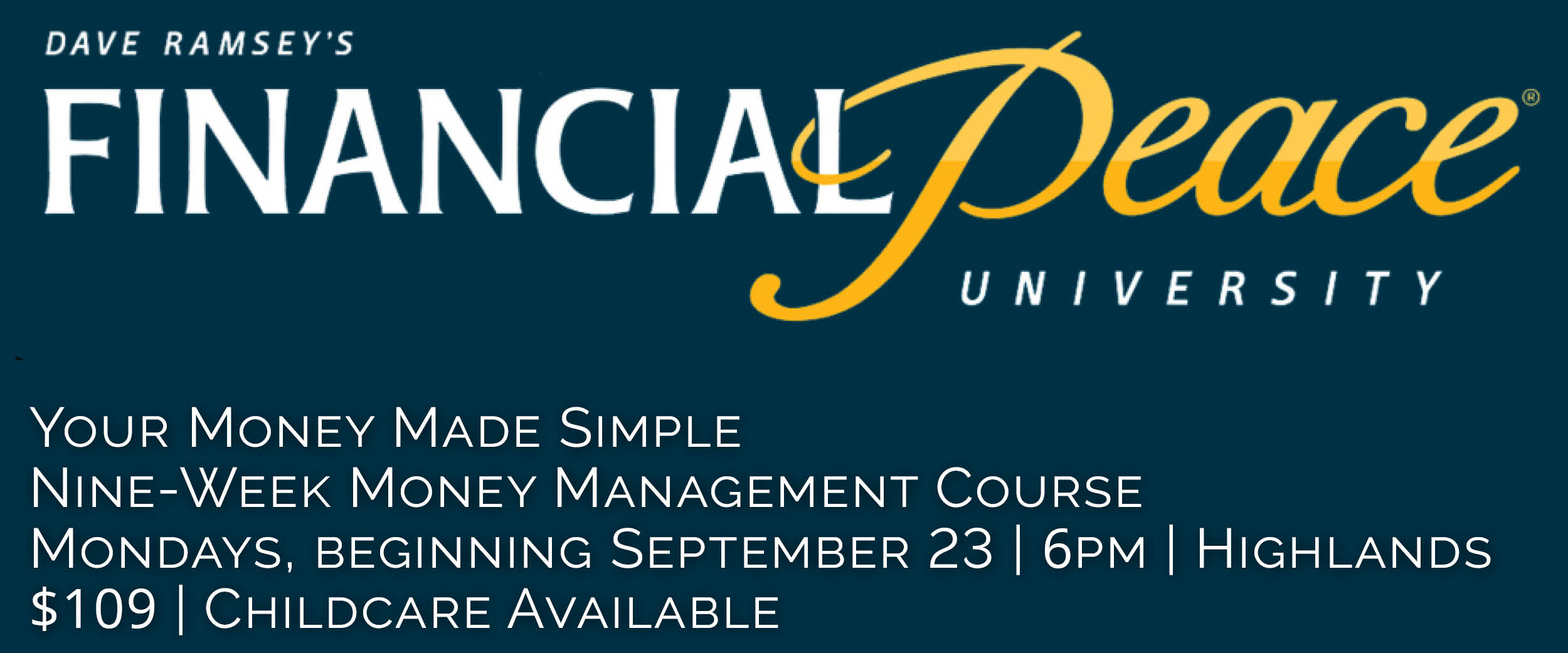 Financial Peace University at Bethel