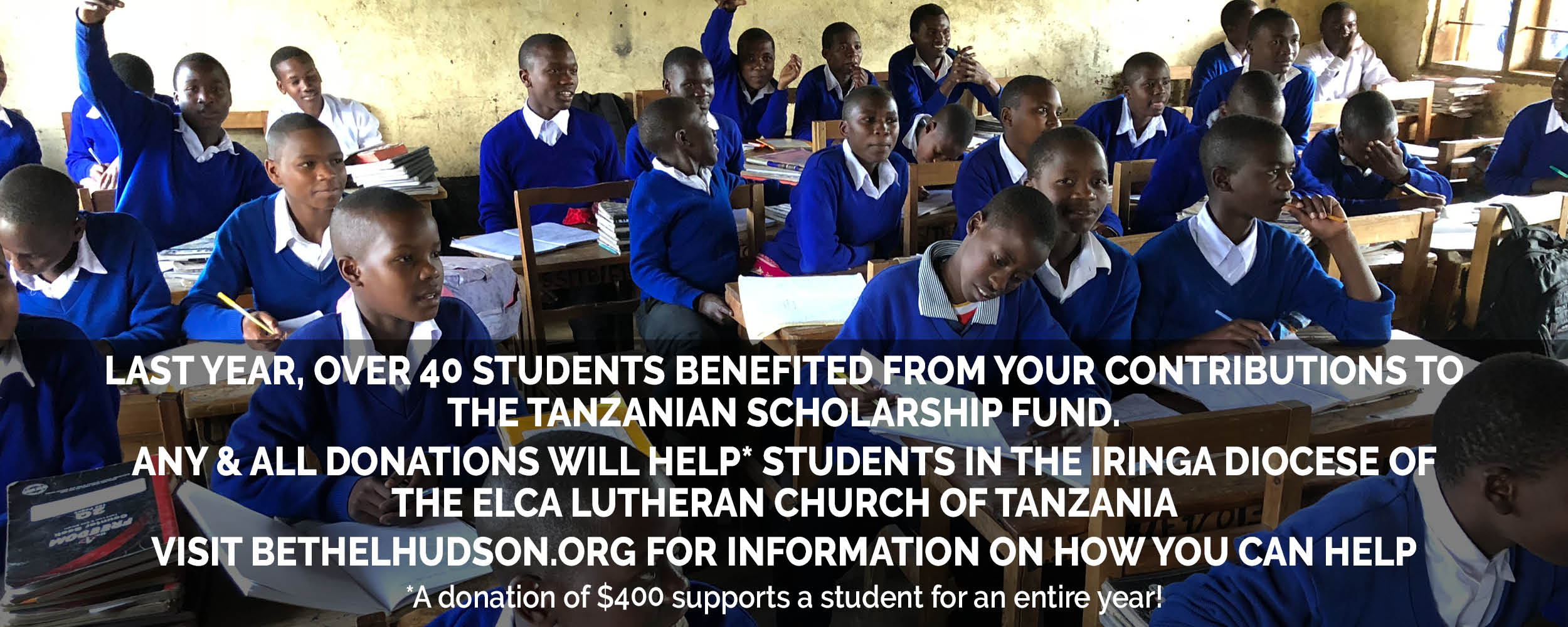 Tanzanian Scholarship Fund Collection Going on now